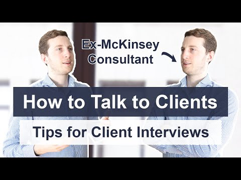 Talk like a Consultant - How to conduct Interviews with Clients