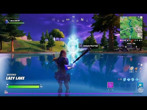 Fortnite Complete The Swimming Timed Trials At Lazy Lake East Of Hydro 16 Dive Challenges