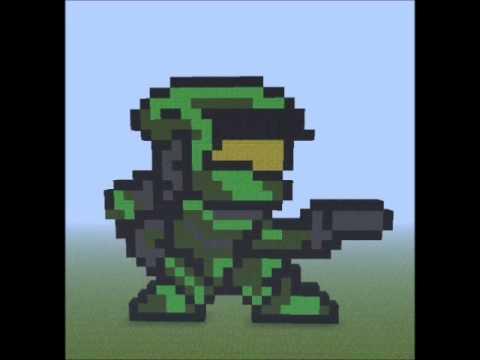 pixel art halo