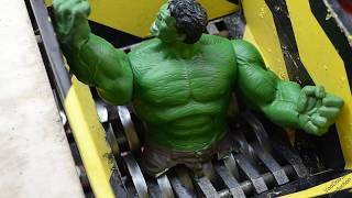 shredding Super Hero Hulk - Crushing Hulk - Crusher vs Hulk experiment