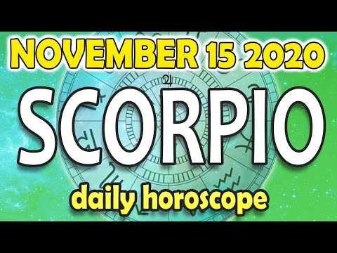 🔴 DAILY HOROSCOPE SCORPIO, NOVEMBER 15 202, daily horoscope SCORPIO NOVEMBER 15 2020 ♏️ 🔴