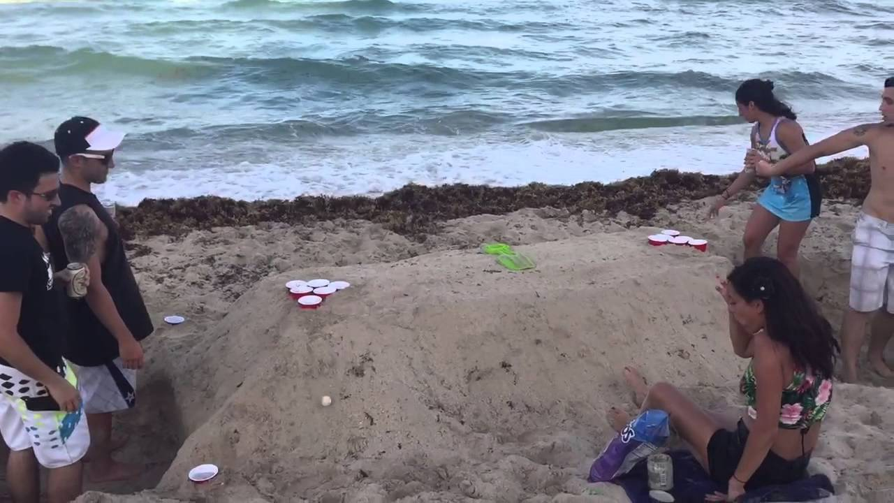Beach Beer Pong Table