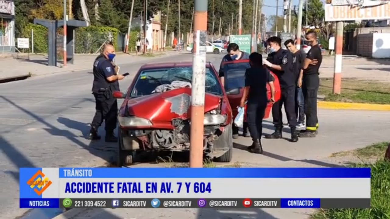 Accidente fatal en Av. 7