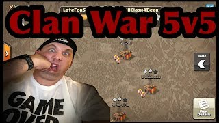 Clash of Clans - 5v5 Clan War !!