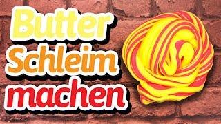 Butter Schleim ohne Puddingpulver selber machen - Butter Slime mit Knete