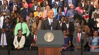 Obama insta a Kenia a renunciar a la corrupción y al tribalismo