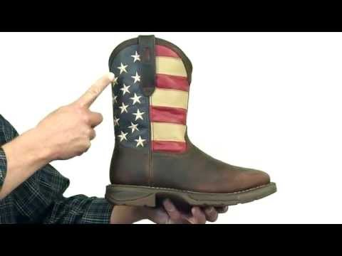 Rebel By Durango Steel Toe American Flag Western Boot Style# - DB020