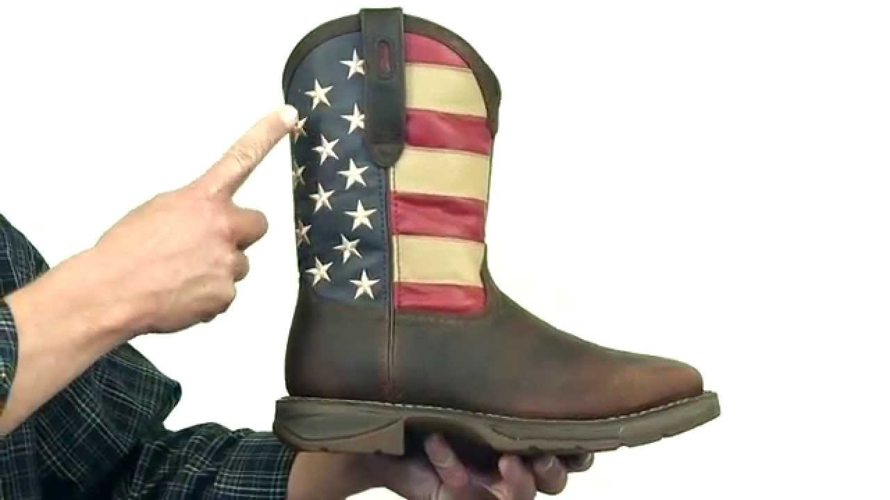 Rebel By Durango Steel Toe American Flag Western Boot