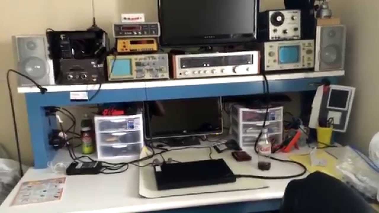 Tour Of My Electronics Workbench Youtube