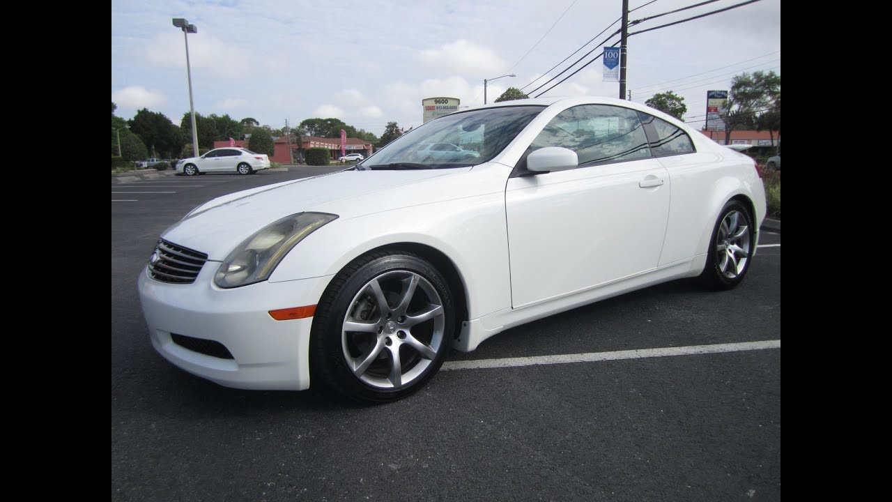 sold 2004 infiniti g35 coupe 92k miles one owner meticulous motors inc florida for sale youtube. Black Bedroom Furniture Sets. Home Design Ideas
