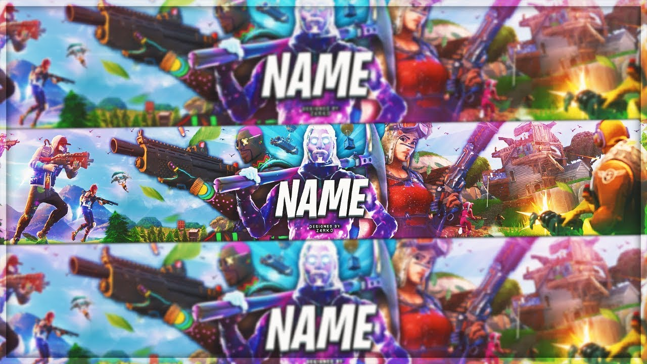Free Banner Fortnite Template Galaxy Skin Season 7 Youtube