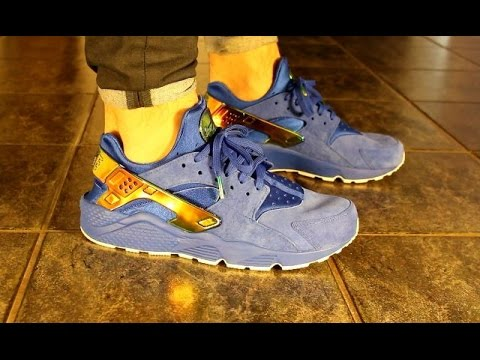 87e9f9bcf2fea0 Nike UNDFTD Huarache PRM QS - ON FOOT - YouTube