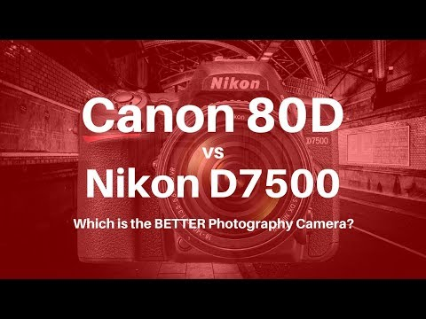 Canon 80D vs Nikon D7500 - Which is the BETTER Photography Camera?