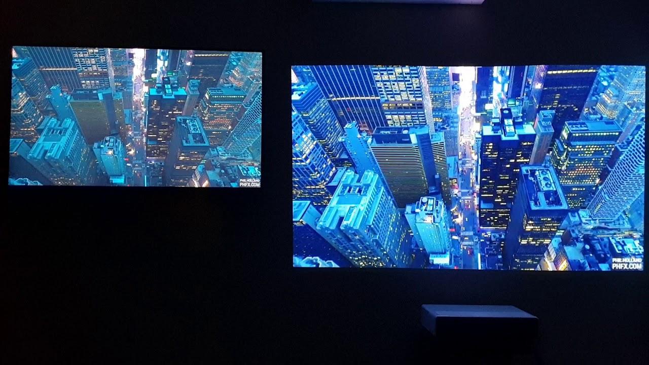 Xiaomi Laser Projector vs 4K HDR: 12k Video playback