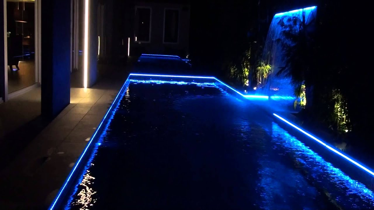 Pool Lighting LED Strip Light - YouTube