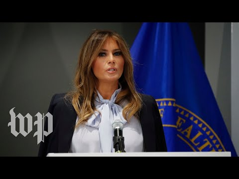First lady Melania Trump warns of 'destructive and harmful' power of social media