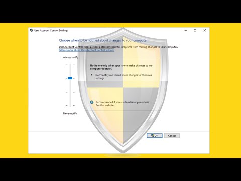 Change or Disable your Windows User Account Control (UAC) Settings