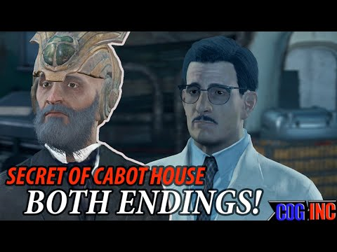 Fallout 4 Secret Of Cabot House Both Endings Freeing