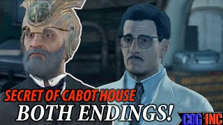Fallout 4 - Secret of Cabot House Both Endings Freeing and Killing Lorenzo Lorenzo s Artifact Gun
