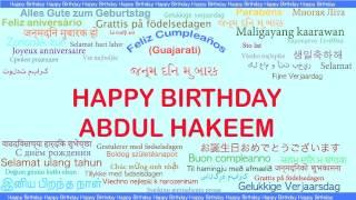 AbdulHakeem   Languages Idiomas - Happy Birthday
