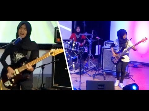 "Berhijab, Santun & Metal!!! Jalan Kebenaran ★ Trio Hijaber ""VoB"" Voice of Baceprot"