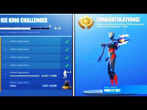 *NEW* POINT IT OUT EMOTE (TIER 100) unlocked! Ice King Challenges Rewards Fortnite Season 7