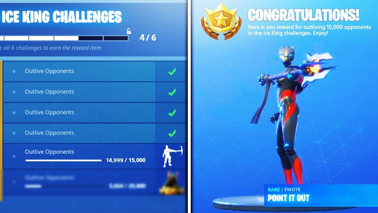 New Point It Out Emote Tier 100 Unlocked Ice King Challenges