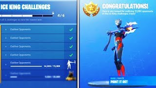"""*NEW* """"POINT IT OUT"""" EMOTE (TIER 100) unlocked! """"Ice King"""" Challenges Rewards Fortnite Season 7"""