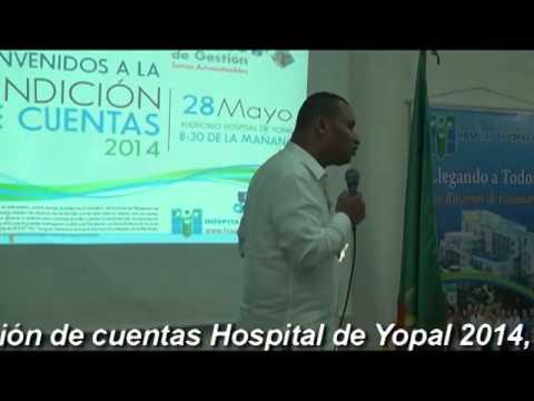 RENDICIÓN DE CUENTAS 2014  HOSPITAL DE YOPAL CASANARE- COLOMBIA  PARTE 2