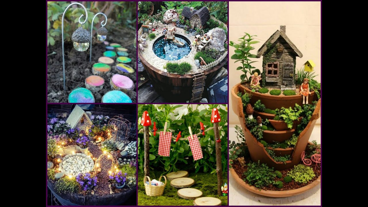 Amazing diy fairy garden decorating ideas miniature for Landscape decor ideas