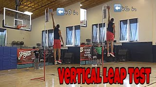 What's Your Vertical Leap? J Clark Vertical leap Test Video