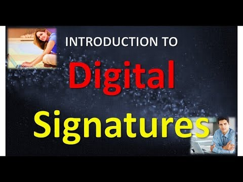 INTRODUCTION TO DIGITAL SIGNATURES