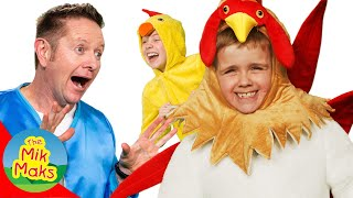 I'm Scared of Chickens | Videos and Songs for Kids |  Learn Farm Animals | The Mik Maks