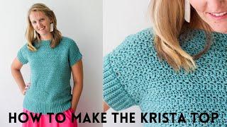How to crochet a top | Crochet for beginners | Crochet clothes |the Krista Crochet Top | Summer Tops