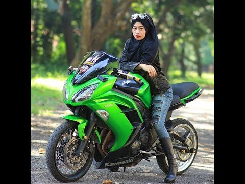 Dunia Belajar Foto Wanita Cantik Naik Motor Ninja