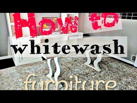 How To Whitewash Furniture Easy Diy Tutorial