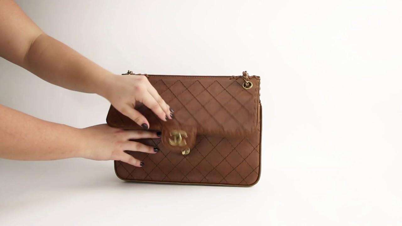 c0e7813fe Bolsa Chanel Marrom Matelassê Etiqueta Única - YouTube