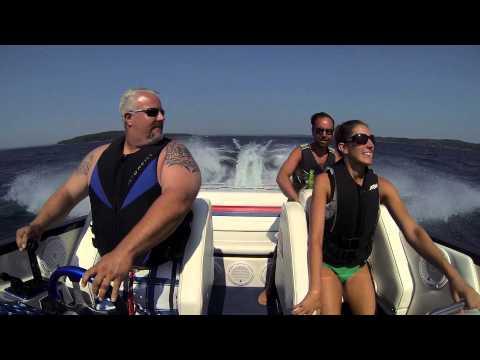 28 Saber Offshore playing in Lake Michigan