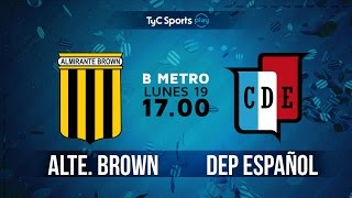 Almirante Brown vs Dep.Espanol full match