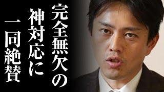 大阪地震直後の吉村洋文大阪市長の