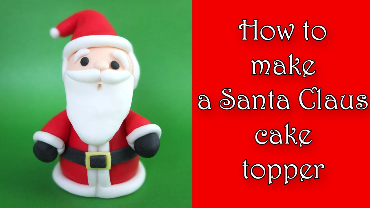 How To Make A Santa Cake Topper