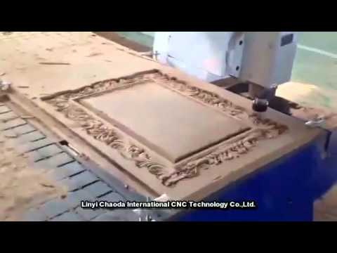 Photo Frame Making Process Of Cnc Router Machine Youtube