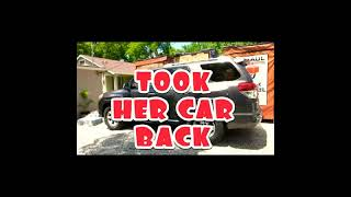 TOOK HER CAR BACK FROM THE THIEF