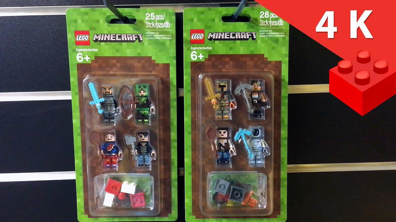 4efd9ffcc LEGO MINECRAFT 853609 i 853610 ZESTAWY DO STYLIZACJI - YouTube