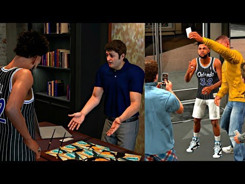 NBA 2K18 MyCAREER - TAKING PICTURES WITH FANS AT THE NBA STORE! GETTING A BRAND NEW ENDORSEMENT!