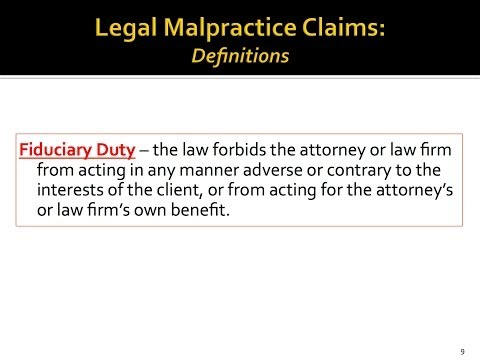 Fudiciary Duty, Florida Legal Malpractice Attorneys