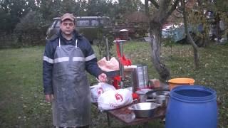 Заготовка яблочного жмыха, как витаминного корма для кур на зиму.