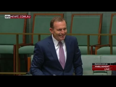 Tony Abbott asks a question about the plan for Jobson Groath