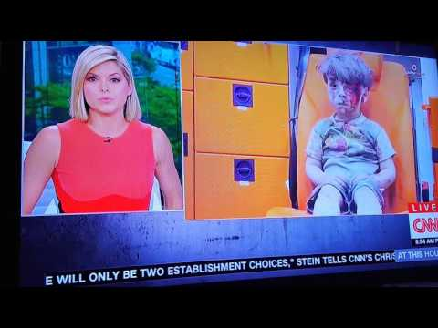 CNN ANCHOR KATE BOLDUAN BREAKS DOWN IN TEARS DURING SYRIA STORY WITH LITTLE BOY AFTER BOMBING,SO SAD