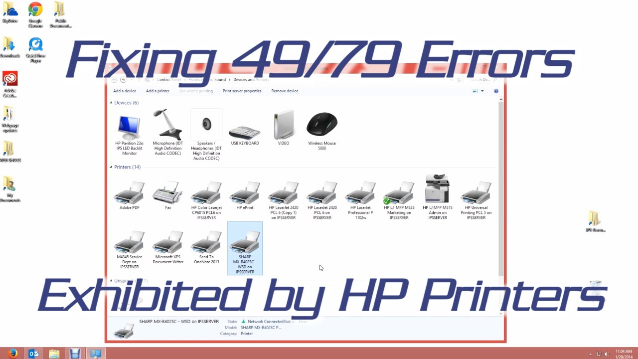 Fixing a 49 or 79 Error on HP Printers - YouTube